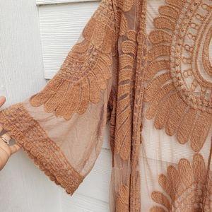 Open front bohemian kimono medium